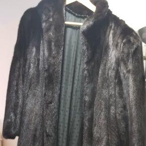 Genuine Mink Full Length Coat